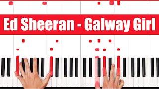Galway Girl Ed Sheeran Piano Tutorial - EASY