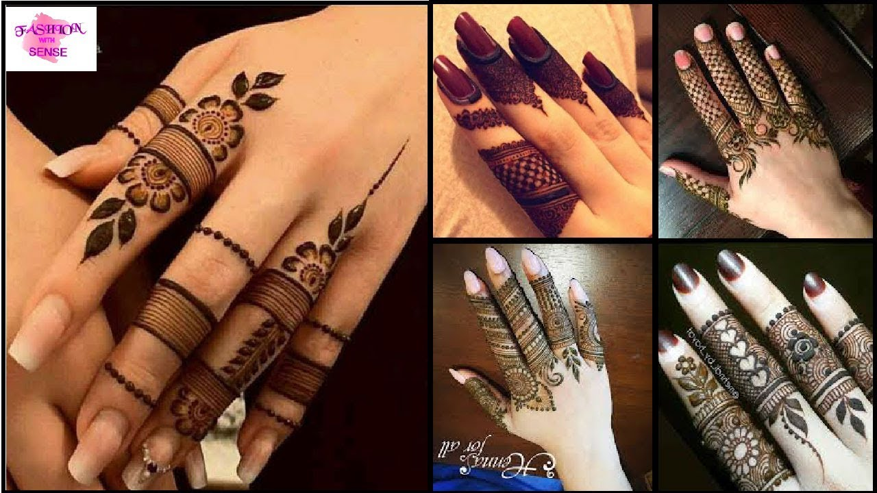 Most Stylish Finger Mehndi Design For Simple Mehndi Designs Latest New Finger Mehndi Youtube