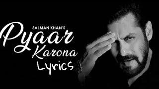 Download song Pyaar Karona (Lyrics) Salman Khan | Sajid Wajid | Aditya Dev