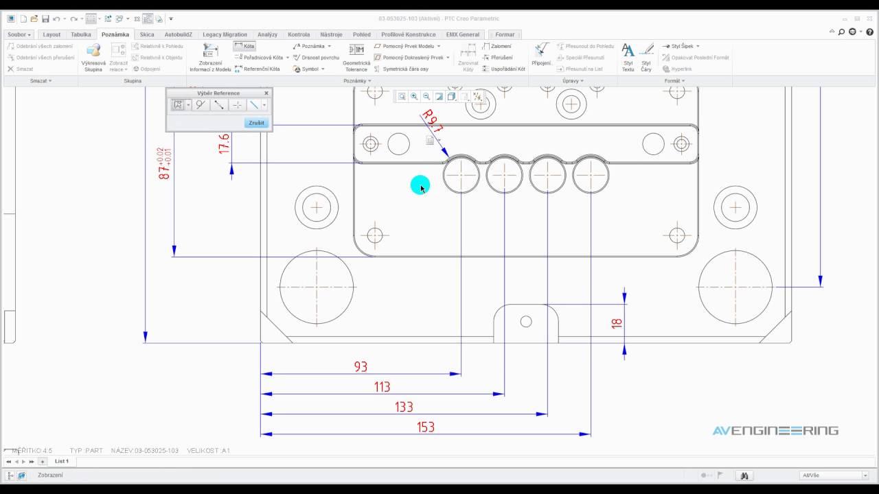 Tvorba 2d Kot A Poznamek V Ptc Creo Parametric 3 0 Youtube