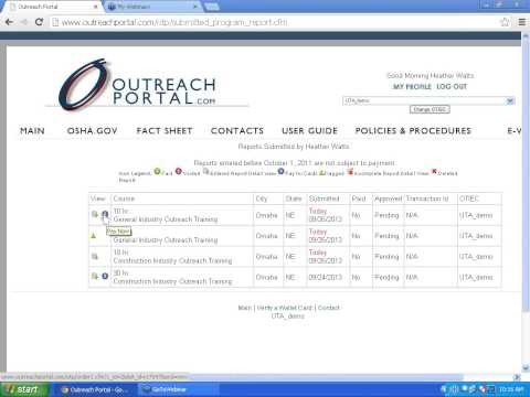 MOEC Outreach Portal Training