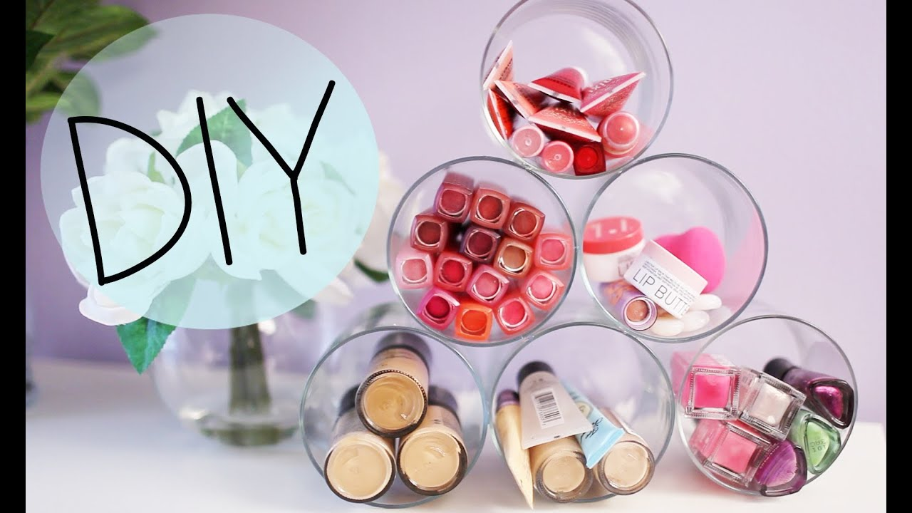 Organizador De Baño Easy:Candle Jar DIY Makeup Organizer