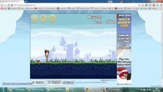 Jogando Angry Birds no Google Chrome