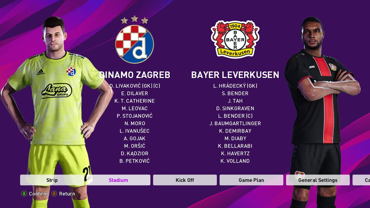 Efootball Pes 2020 L Dinamo Zagreb Vs Bayer Leverkusen L Highlights Pc Game Play Youtube