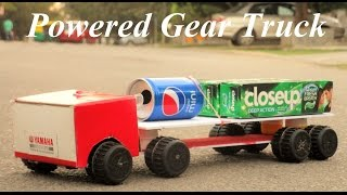 How To Make a gear truck - powered Truck - Very Simple