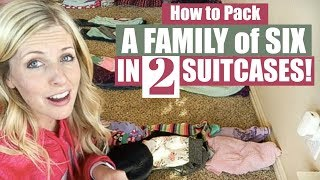 How to Pack a Family of Six into 2 BAGS! Traveling with Kids || TIP TUESDAY Video