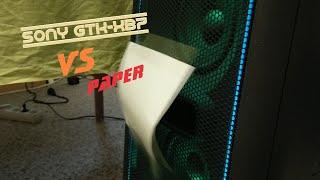 Sony GTK-XB7 vs. Paper