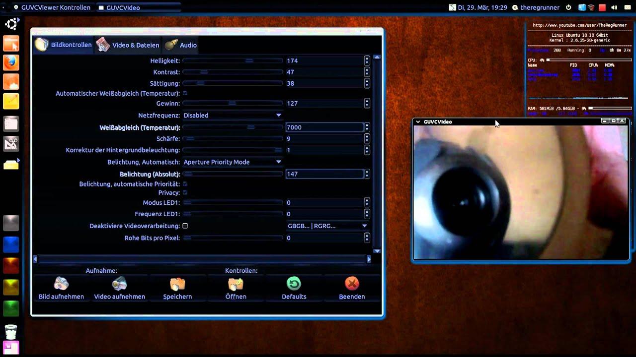 Ubuntu 10 10 : Webcam LED ausschalten mit