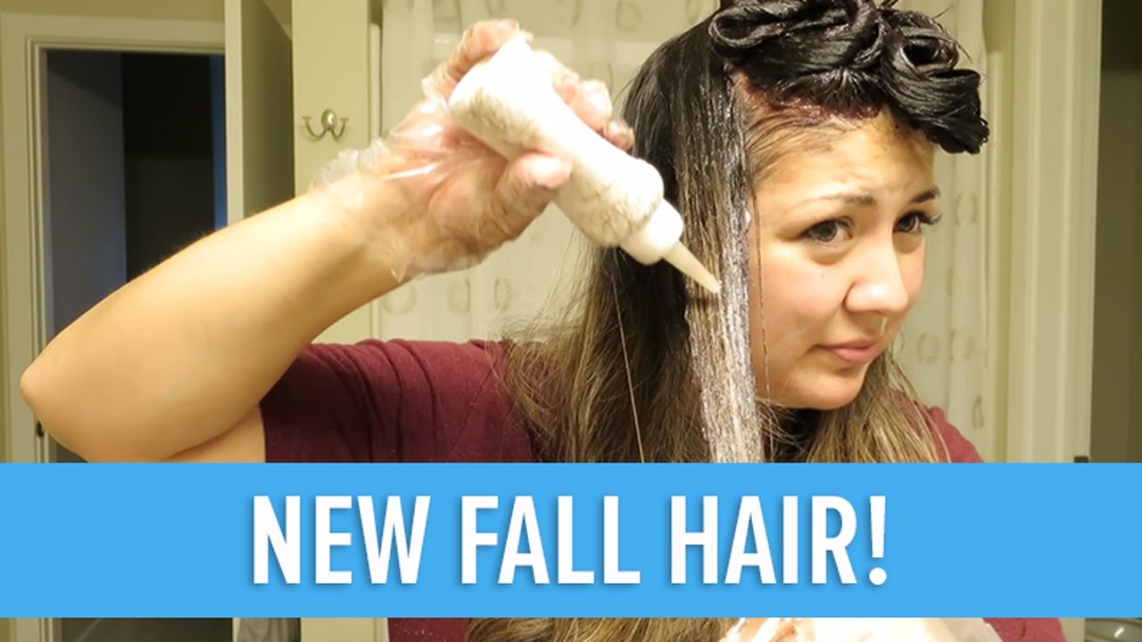 DYING MY OWN HAIR! - YouTube