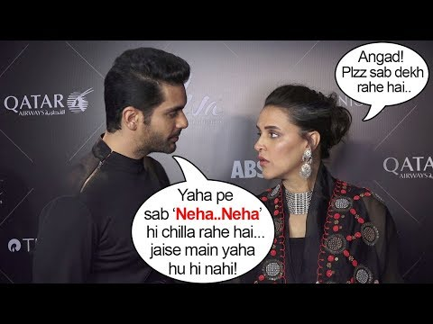 Neha Dhupia's Husband Angad Bedi's JEALOUS Behavior In Public At Vogue Beauty Awards 2018 thumbnail