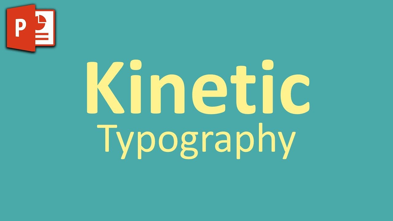 Very Simple Kinetic Typography in PowerPoint ✔