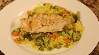 Grilled Chicken Rice And Vegetables - Healthy And Gluten Free By Rockin Robin