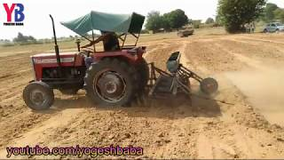 Agriculture technology with tractor Indian Farming agriculture technology