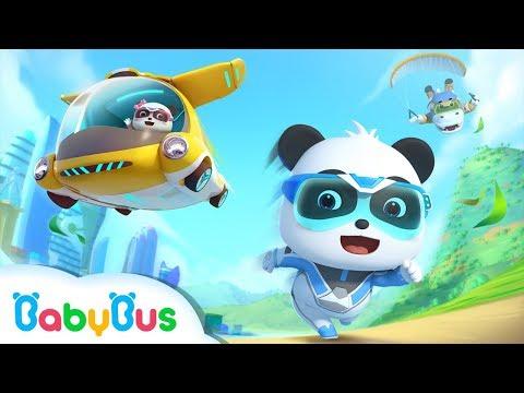 Super Panda Rescue Team, Action! | BabyBus City Hero | BabyBus Cartoon for Kids