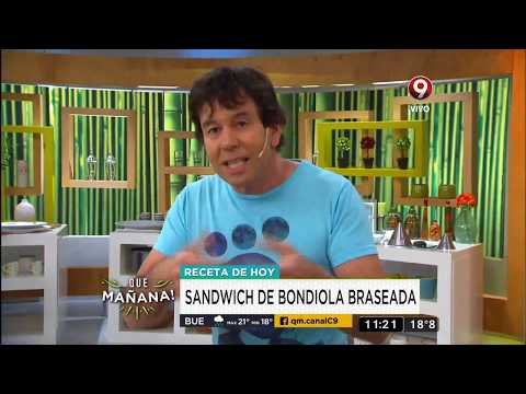 Receta de hoy: Sandwich de bondiola braseada
