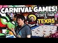 Winning CARNIVAL GAMES at the State Fair of Texas 2017! Ring Toss, Goblet Toss and Skeeball Wins!