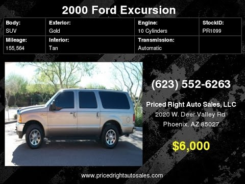 2000 Ford Excursion XLT Loaded Power All No Credit OK PR1099