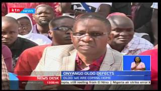 Former TNA Sec Gen Onyango Oloo defects to ODM along with other officials