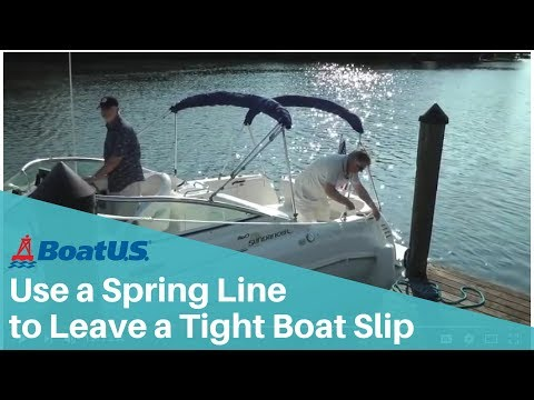 Springing Off: Leave a Tight Berth Using Spring Lines | BoatUS
