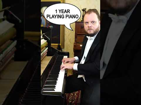 Download 1 day vs 10 years of Playing Piano #Shorts