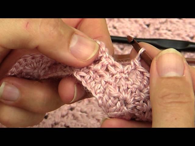 Lær å hekle skjellmønster og opphøyde staver
