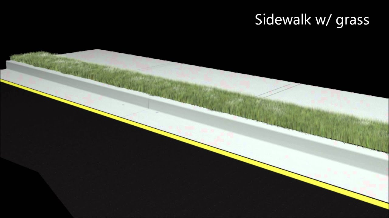 Sidewalk Curb Amp Gutter With Grass Youtube