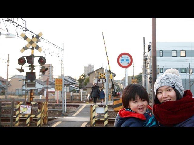 日本で唯一3種類の線路幅が並ぶ踏切