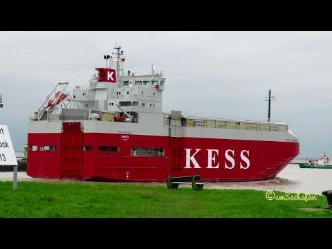 car carrier EMS HIGHWAY P3NL8 IMO 9195133 RoRo cargo seaship outbound Emden Autotransporter