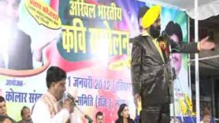 Pratap Fauzdar at Kavi sammelan 2012 by Kolar Sansakar Samajik Samiti Bhopal-3