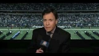 """Bob Costas' ""Sunday Night Football"" halftime commentary supporting..."