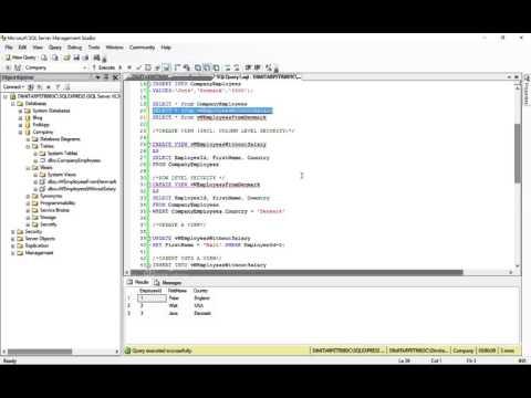 Views In SQL  - INSERT, DELETE, UPDATE