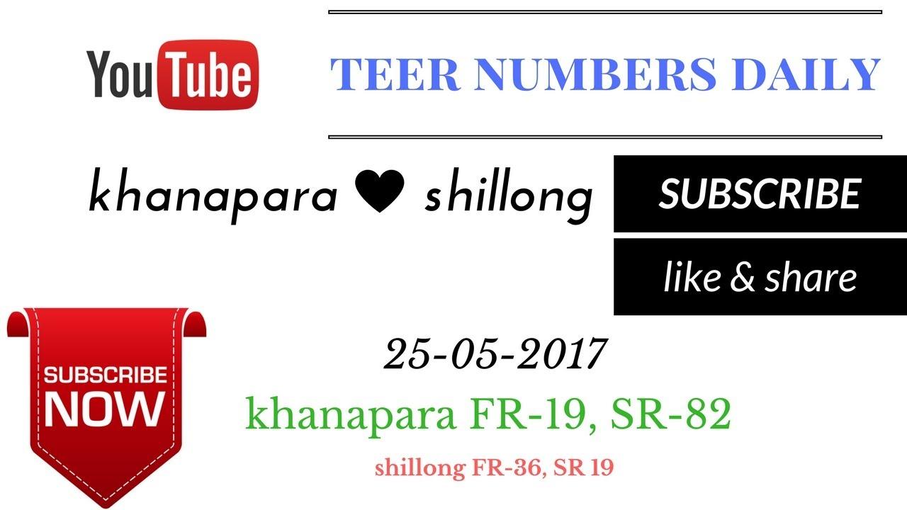 shillong khanapara teer common numbers