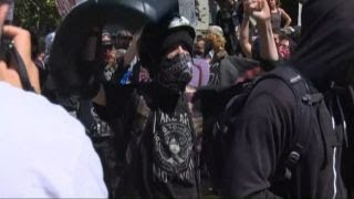 Antifa anarchists attack peaceful right-wing Berkeley rally