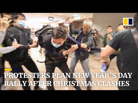 Protesters plan New Year's Day rally after Christmas clashes