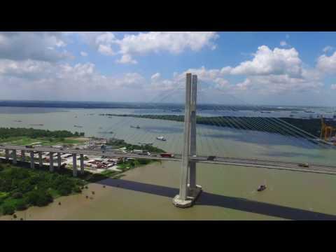 Flycam Cầu Phú Mỹ - Quận 7 (The Phu My Bridge, Dist 7, HCM City, Vietnam)