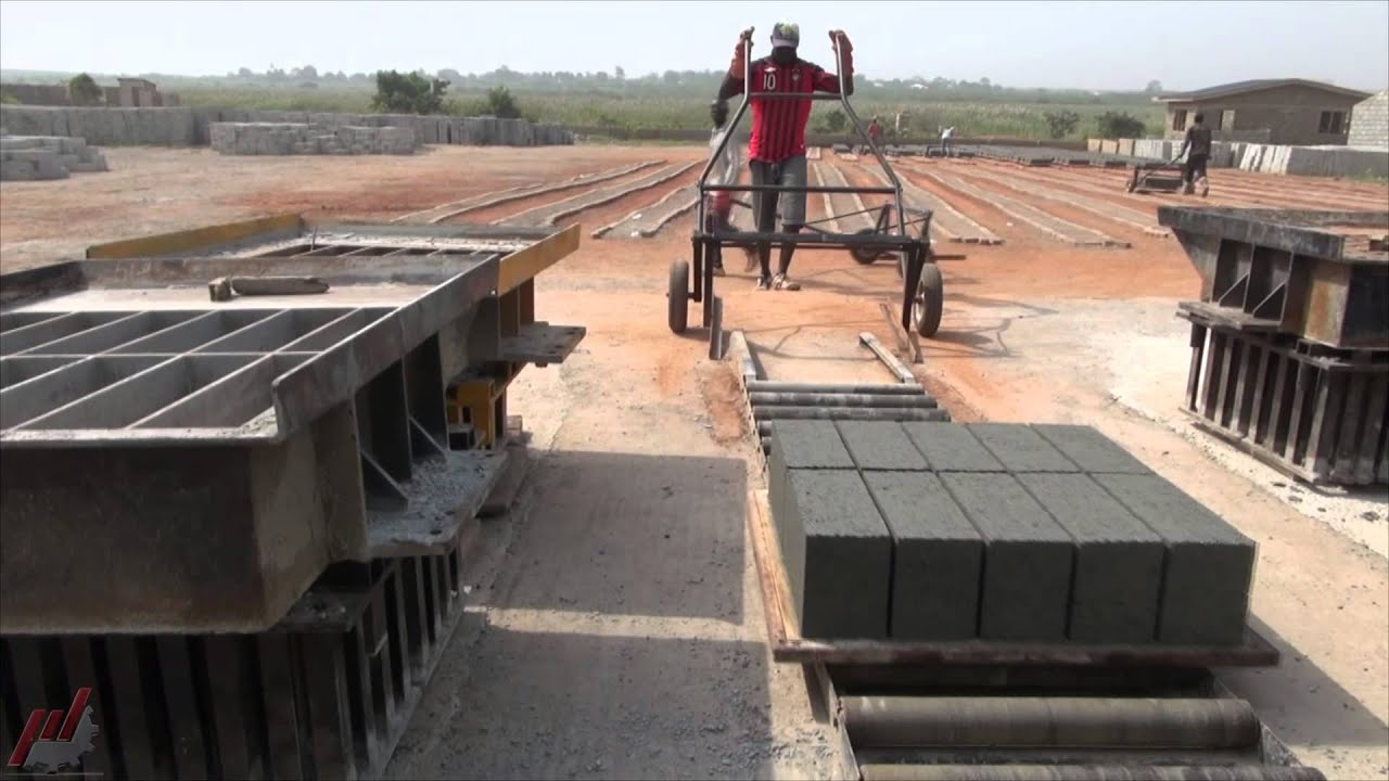 2014 Ghana Concrete Block Paver Machine Youtube