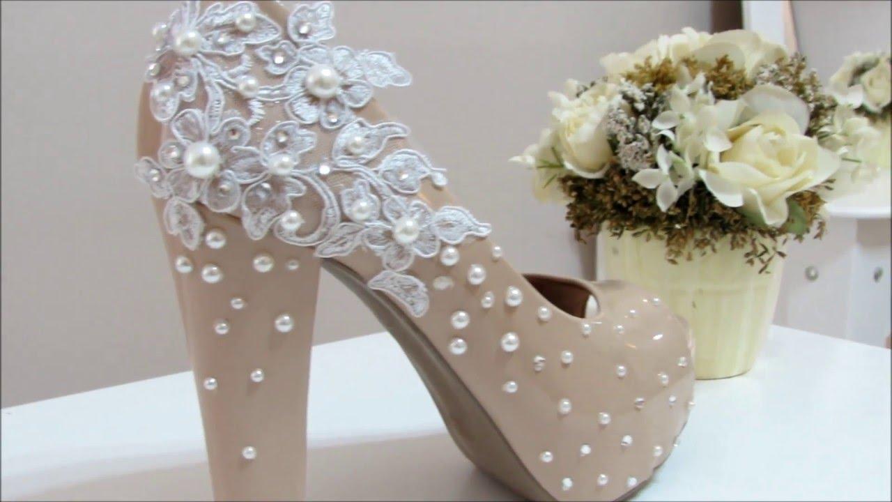0dcd69d9c Como fazer um sapato de noiva (Sapato luxuoso) - YouTube