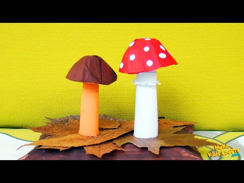 How to make a Paper Mushrooms?