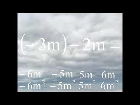 ( – 3 m ) – 2 m = . . . –6m? –5m? –6m²? –5m²? 5m²? 5m? 6m? 5m²? 6m²? middle school math traps