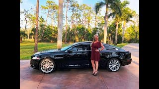SOLD!! 2014 Jaguar XJ L Supercharged test drive video, 470 HP, Fully Loaded, Incredible!