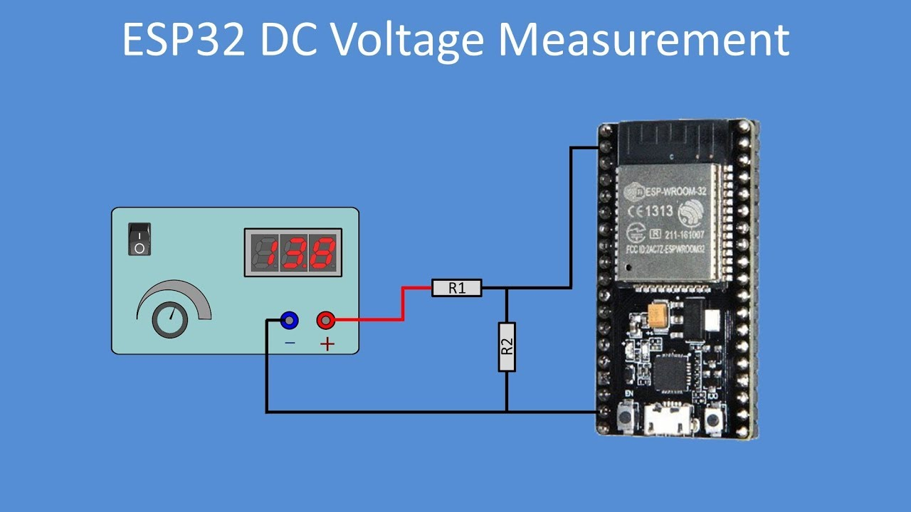 Tech Note 115 - Using the ESP32 ADC for wide range DC voltage measurements
