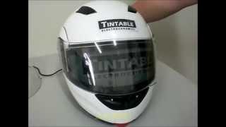 電致變色安全帽片 electrochromic visors for helmet