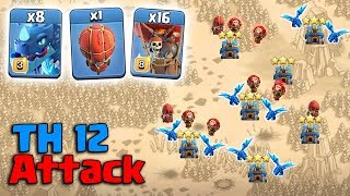 8 Electro Dragon + 16 Max Balloon + Stone Slammer :: TH12 ATTACK STRATEGY 2019 | Clash Of Clans