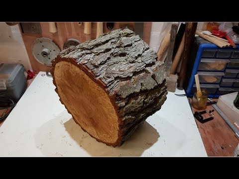 Woodturning - Log to Lamp Shade