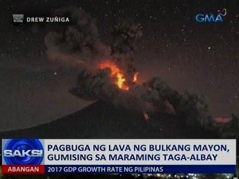 Saksi: Pagbuga ng lava ng Bulkang Mayon, gumising sa maraming taga-Albay