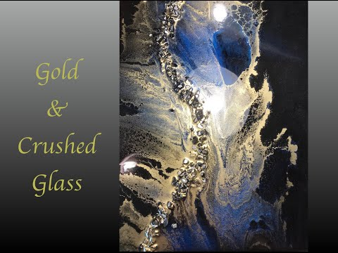 Resin Art Crushed Glass and Alcohol Ink Embellishments 2