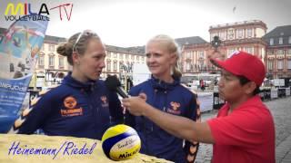 Mila Beach Report mit Jenny Heinemann und Pia Riedel 28-30.6.13 Smart Beach Tour Mannheim