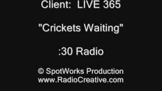 "Radio Commercials 101!  Live 365 ""Crickets Waiting"" Radio :30"