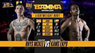 BAMMA 33: Rhys MckKee vs Kams Ekpo