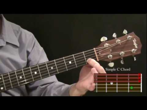 Part 4.3 - Beginner Guitar Course: How To Play a Simple C Chord ...